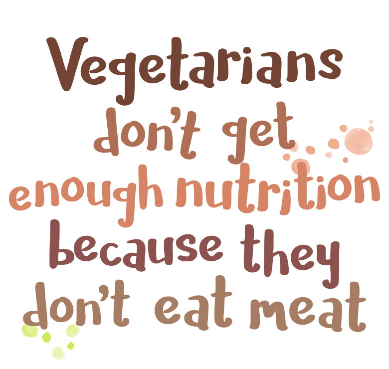 Vegetarians don't get enough nutrition because they don't eat meat