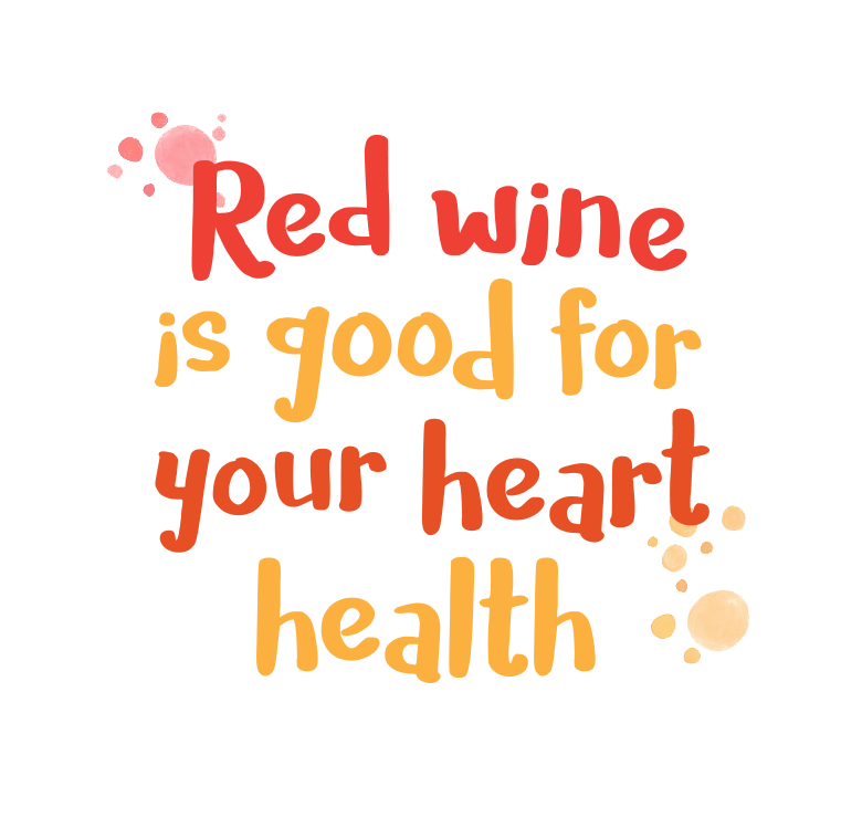 Red wine is good for your heart health