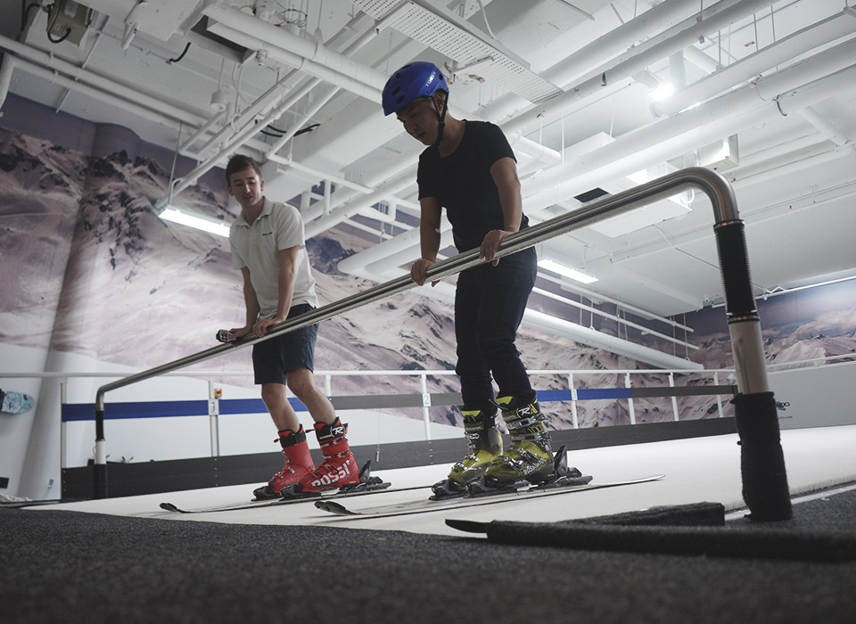Singapore's first and only indoor ski slope