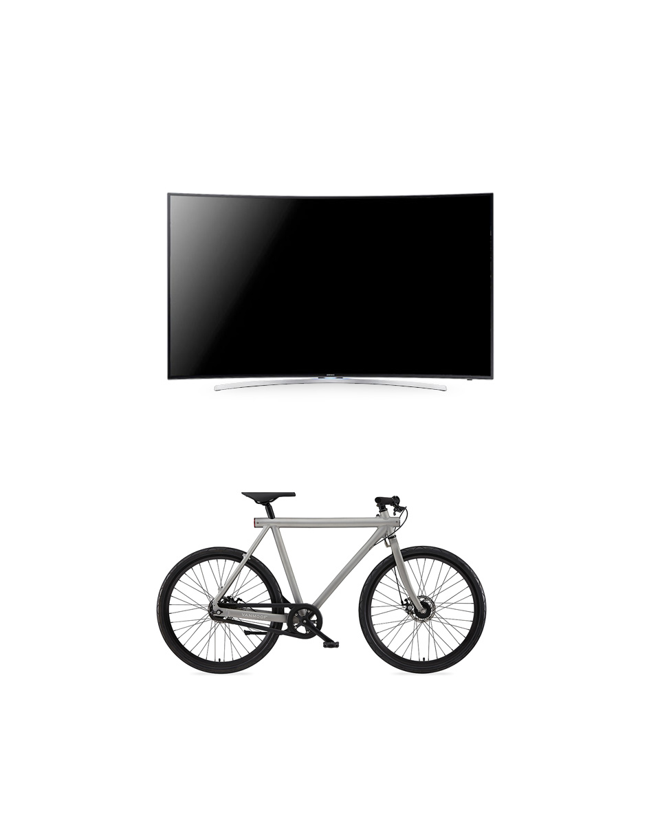 Television and Bicycle