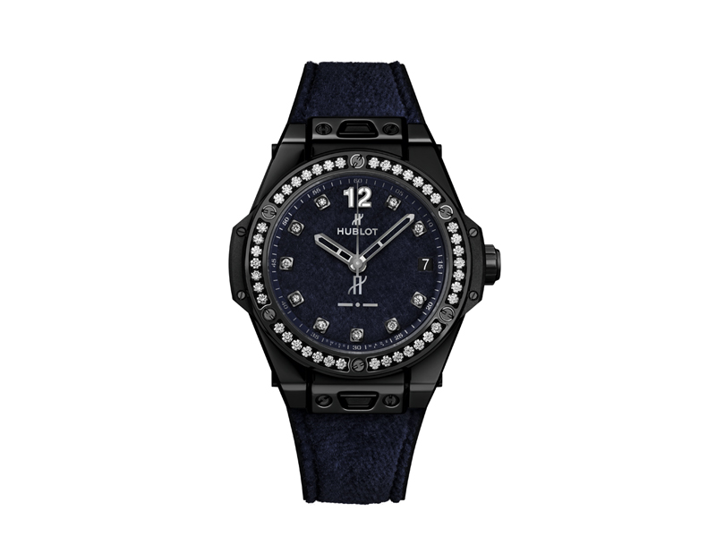 Big Bang One Click Italia Independent Dark Blue Velvet 39mm