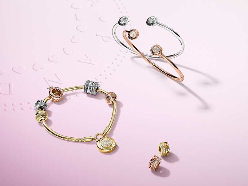 Iconic hand-finished jewellery from the PANDORA Signature collection