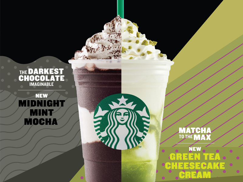 Two new Summer Frappuccino at Starbucks