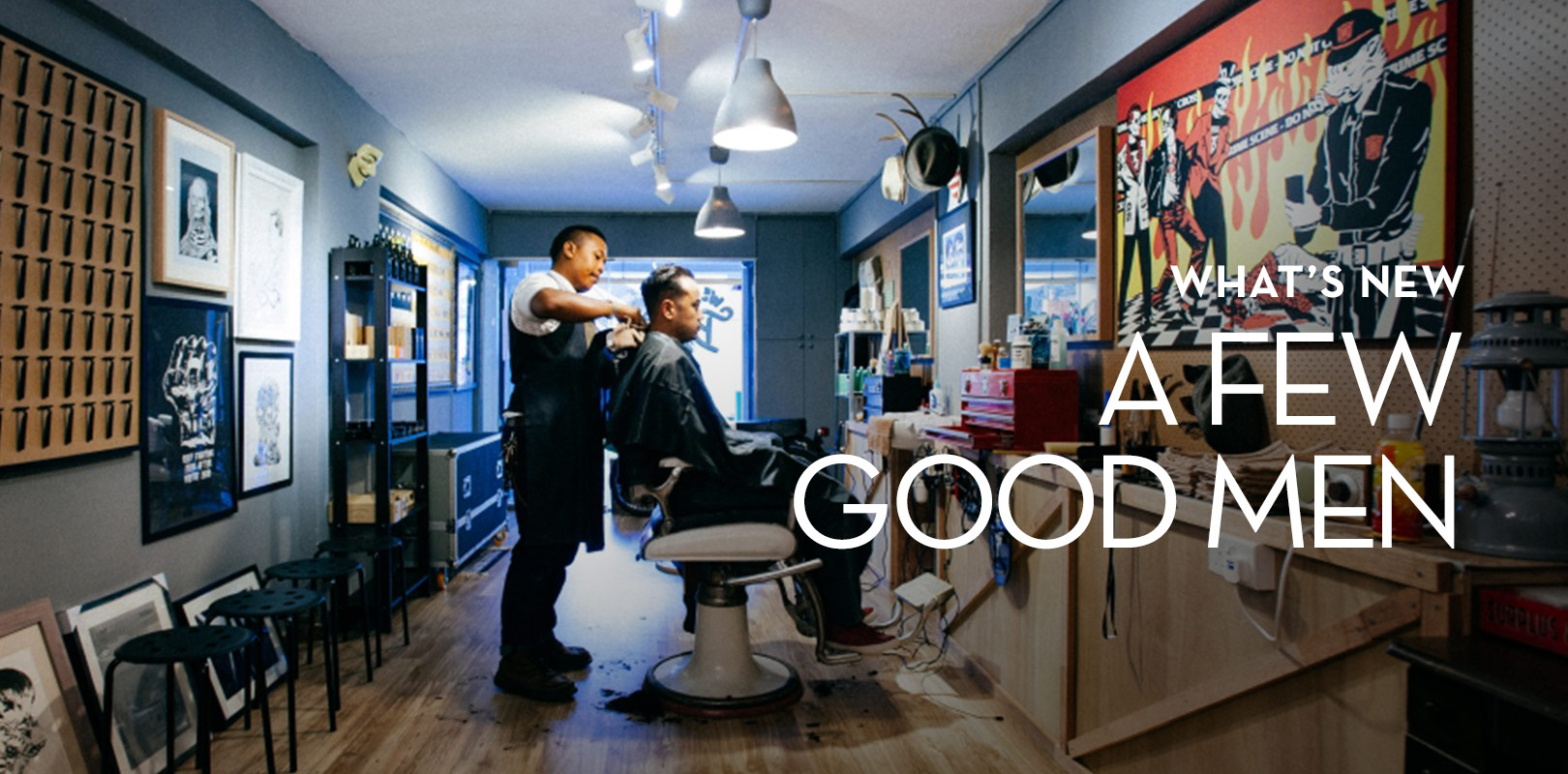 A Few Good Men is a present day twist on the old school classic barbershop