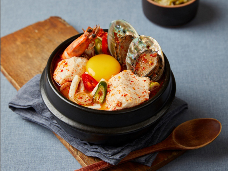 Uplifting korean soft tofu soup available now