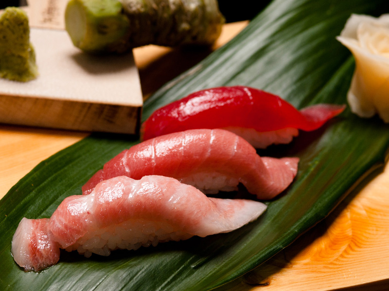 Indulge in fresh and premium cuts of thick slices of sashimi at Tomi Sushi